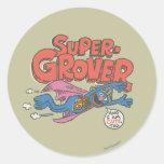 Grover Vintage Kids 1 Classic Round Sticker