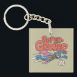 """Grover Vintage Kids 1 Keychain<br><div class=""""desc"""">Personalize your vintage Super Grover on your Zazzle product.        This item is recommended for ages 13 .&#169;  &#169;  2014 Sesame Workshop. www.sesamestreet.org</div>"""