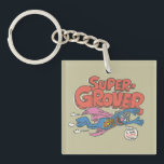 "Grover Vintage Kids 1 Keychain<br><div class=""desc"">Personalize your vintage Super Grover on your Zazzle product.        This item is recommended for ages 13 .&#169;  &#169;  2014 Sesame Workshop. www.sesamestreet.org</div>"