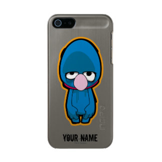 Grover Zombie | Add Your Name Metallic Phone Case For iPhone SE/5/5s