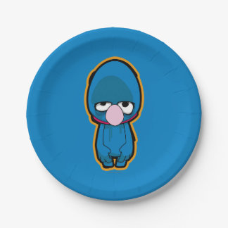 Grover Zombie 7 Inch Paper Plate