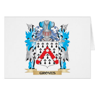 Groves Coat of Arms - Family Crest Stationery Note Card