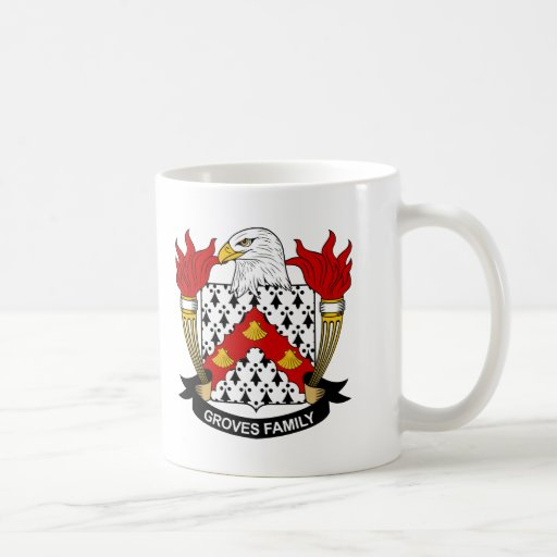 Groves Family Crest Classic White Coffee Mug