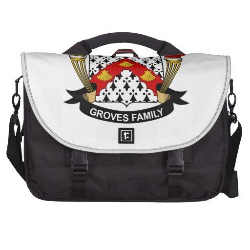 Groves Family Crest Laptop Bags