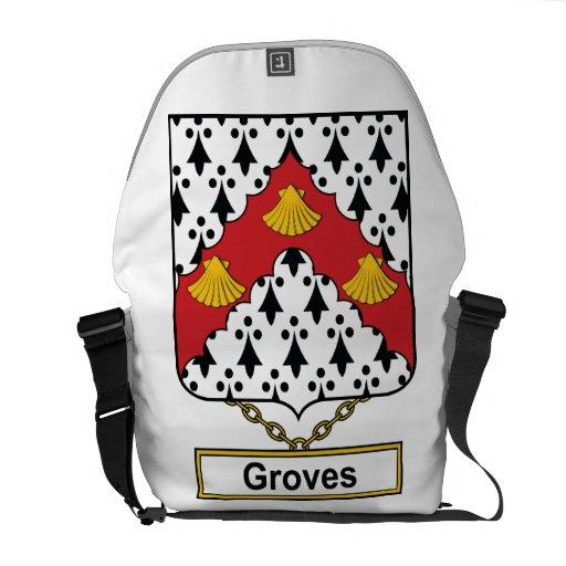 Groves Family Crest Messenger Bags