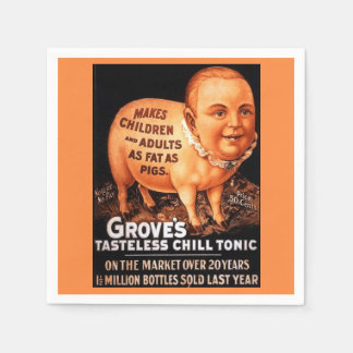 Groves Tonic makes children and adults fat as pigs Paper Napkin
