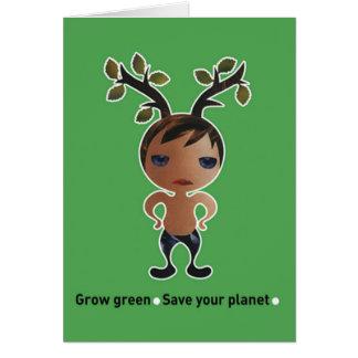 Grow a green conscience! cards