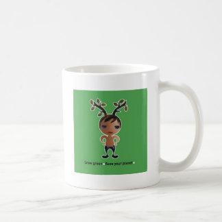 Grow a green conscience! classic white coffee mug