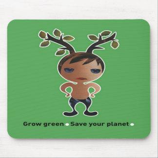 Grow a green conscience! mousepads