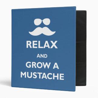 Grow a Mustache 3 Ring Binder