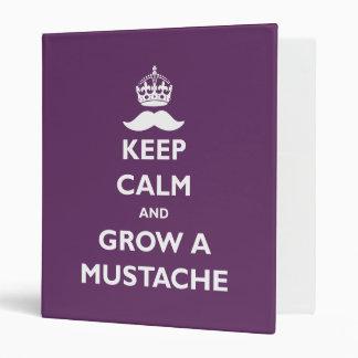 Grow a Mustache Vinyl Binder