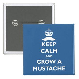 Grow a Mustache Pinback Button