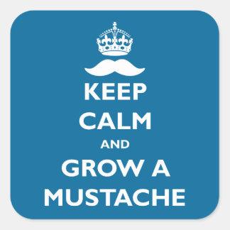 Grow a Mustache Square Sticker