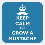 Grow a Mustache Sticker