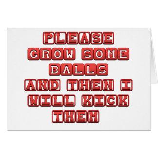 Grow a pair greeting card