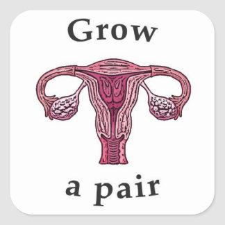 Grow a pair (of ovaries) stickers