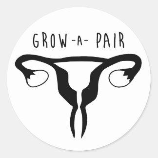 Grow a Pair- Sticker
