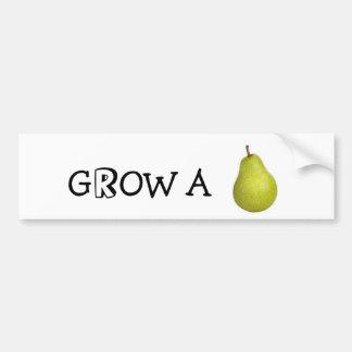 Grow a pear bumper sticker car bumper sticker