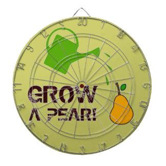 Grow a Pear! funny rebus humor (Khaki-more colors) Dart Boards