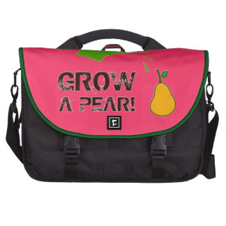Grow a Pear! funny rebus humor (many colors) Laptop Computer Bag