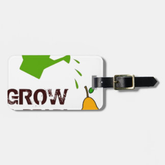 Grow a Pear! funny rebus humor (-many more colors) Tag For Luggage