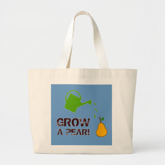 Grow a Pear! funny rebus humor (-more colors) Canvas Bags