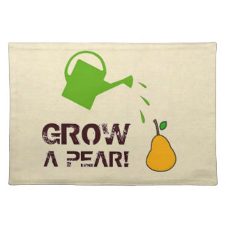 Grow a Pear! funny rebus humor Place Mats