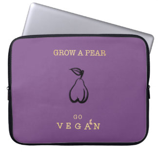 Grow a Pear - Go Vegan Laptop Case