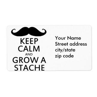Grow a Stache Label