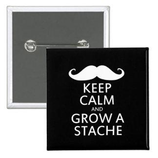 Grow a Stache Pinback Button