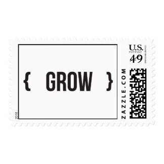 Grow - Bracketed - Black and White Postage
