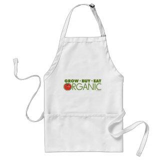 Grow, Buy, Eat Organic Adult Apron