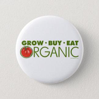 Grow, Buy, Eat Organic Button