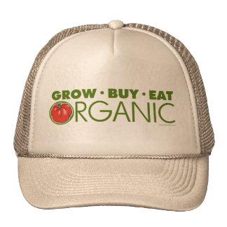 Grow, Buy, Eat Organic Mesh Hats