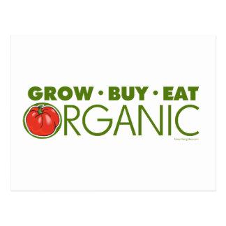 Grow, Buy, Eat Organic Postcard