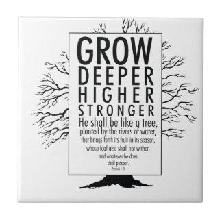 Grow Deeper Higher Stronger Tile