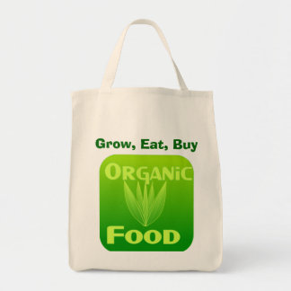 Grow, Eat, Buy organic food bag