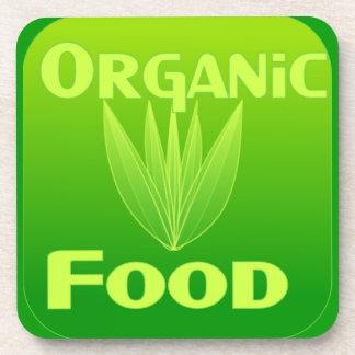 Grow, Eat, Buy organic food coaster