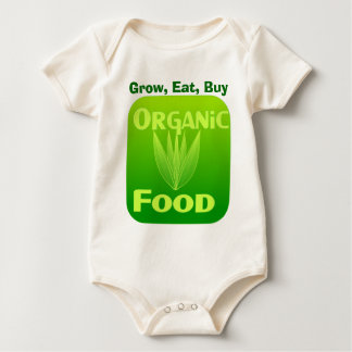 Grow, Eat, Buy organic food infant onsie creeper