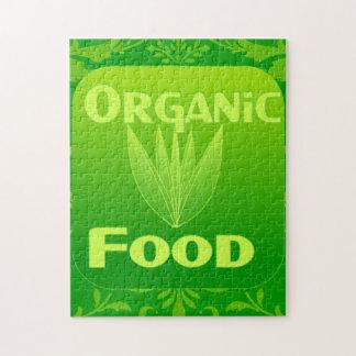 Grow, Eat, Buy organic food puzzle