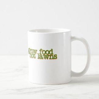 Grow food not lawns coffee mug