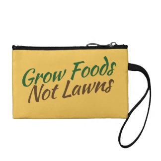Grow foods not lawns coin purse