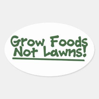 Grow Foods now Lawns Oval Sticker