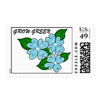 Grow Green Floral Postage