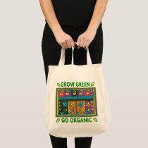 Grow Green Go Organic Garden Environmental Eco Tote Bag