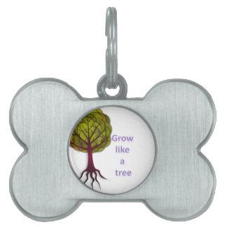 grow like a tree pet ID tag