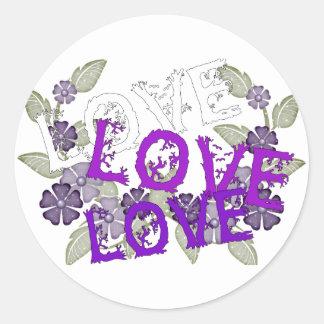 Grow Love Classic Round Sticker