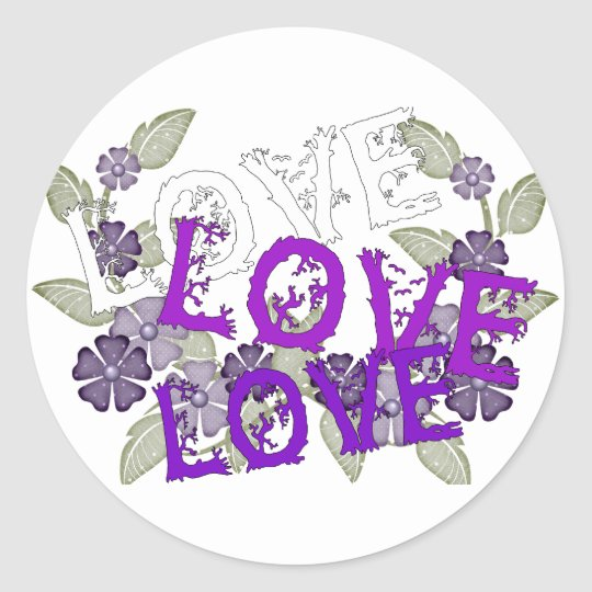 Grow Love Classic Round Sticker