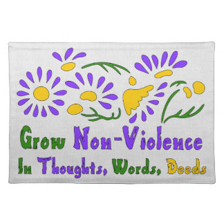 Grow Non-Violence Cloth Placemat