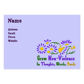 Grow Non-Violence Large Business Card